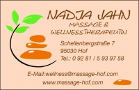 Massage & Wellnesstherapeutin Nadja Jahn